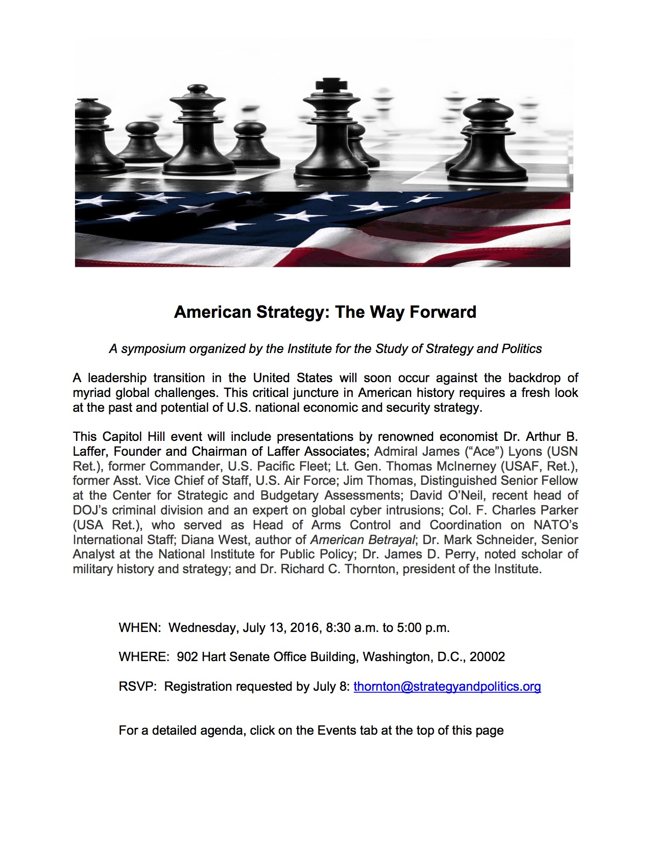 Institute for the Study of Strategy and Politics | Strategy, World